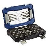 LUX-TOOLS SDS-Plus Bohrer- und Meißel-Satz, 20-teilig | Meißel- und Hammerbohrer-Set im Koffer inkl. 18 Beton- & Steinbohrern sowie Flachmeißel & Spitzmeißel mit SDS-Plus Aufnahme