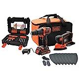 BLACK+DECKER BCK23S1SA41-QW Schlagbohrmaschine und Detailschleifer