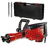 Einhell Abbruchhammer TC-DH 43 (1.600 W, 43 J Einzelschlagstärke, SDS-hex-Werkzeugaufnahme, 180°-verstellbarer Zusatzhandgriff, inkl. Spitz- und Flachmeißel, Koffer)