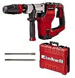 Einhell 4139100 Abbruchhammer TE-DH 12 (1050 W, 12J,SDSmax-Werkzeugaufnahme,schwingungsgedämpfterHandgriff,flex.einstellbarerZusatzhandgriff,4mGummikabel,inkl.Spitz-undFlachmeißel,inkl.E-Box)