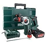 Metabo 600211970 KHA18 LTX BL Bohrhammer SDS plus Brushless + 2 Akkus 18 V 4 Ah Li-Ion + Wechselfutter + Koffer