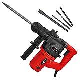 SCHMIDT security tools SDS-Plus Bohrhammer RH-1010 Meißelhammer 1010W 3,5J Schlagstärke | Schlagbohren Bohren Meißeln inkl. Handwerker-Koffer und Zubehör | Stemmhammer