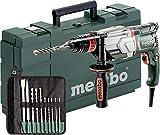 Metabo Multihammer UHE 2660-2 Quick Set (800 Watt, 2,8 J Joule, Wechselfutter SDS-Plus, Bohr-Ø Beton 26 Millimeter - Bohrhammer Made in Germany mit Koffer und Bohrer-/Meisselsatz) 600697510