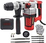Bohrmaschine 2200W Schlagbohrmaschine(3-Funktions 930rpm Bohrhammer,Schlagzahl: 3300min,Stabileres Bohrfutter,1.5M Kabel)